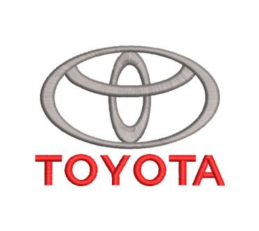 Logo Toyota Diseños de Bordado
