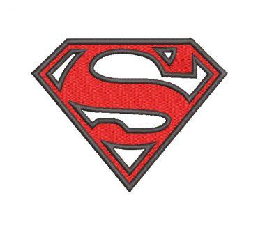 Logo de superman con aplicación para bordar