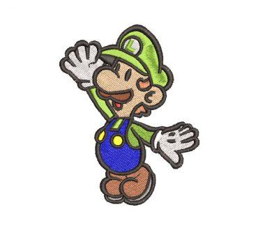 Luigi Super Mario Bros Diseño de Bordado