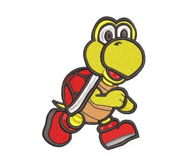 Mario Bros Tortuga Diseño de Bordado