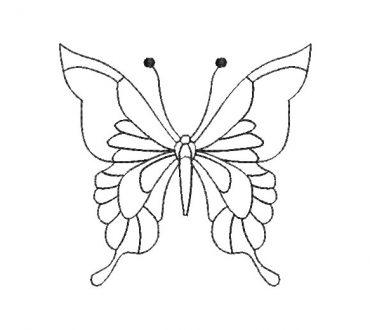 Mariposa Silueta Diseño de bordado