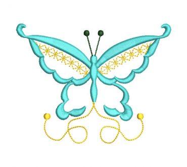 Mariposa fantasía Diseños de Bordado