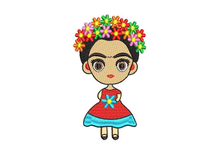 Muñeca Mexicana Frida Kahlo Diseños de Bordado