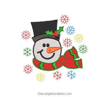 Muñeco de nieve con estrella de colores