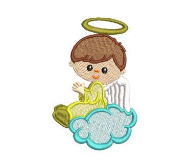 Niño Ángel Orando Diseños de Bordado