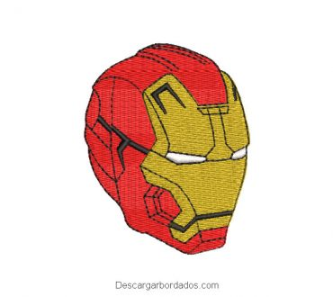 Rostro Iron Man Diseño de Bordado