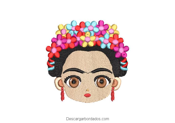 Rostro de Frida Kahlo Diseño para Bordar