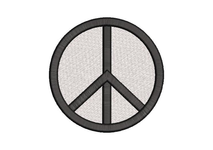 Símbolo de Paz Diseño de Bordado