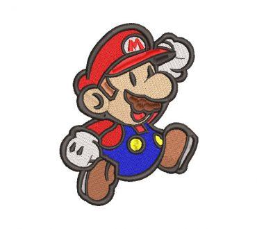 Super Mario Bros Diseño de Bordado