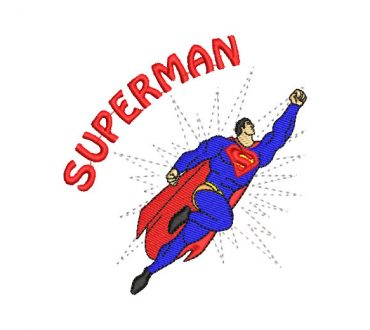 Superman volando diseño bordado para maquina