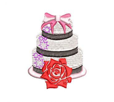 Torta de Cumpleaños Diseño de Bordado