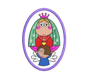 Virgen de Guadalupe Animada Diseño de Bordado