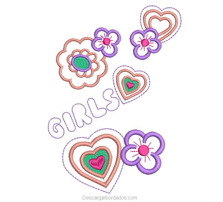 bordado de Flores para Niñas