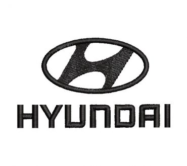 logo Hyundai Diseño de Bordado
